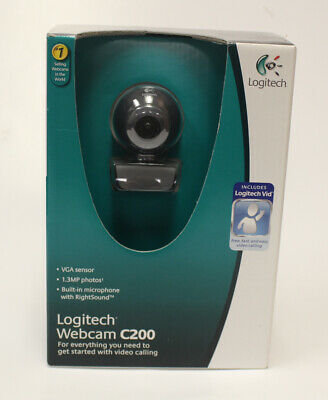 766b29ee203 Brand New Logitech Webcam C200 Camera with Built-In Microphone USB Cord  Software