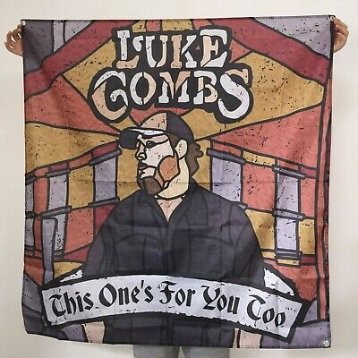 Luke Combs Banner This One's for You Too Tapestry Cover Logo Flag Poster 4x4 ft
