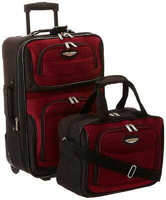 Travelers Choice Travel Select Amsterdam Two Piece Carry-on Luggage Set DEFECT