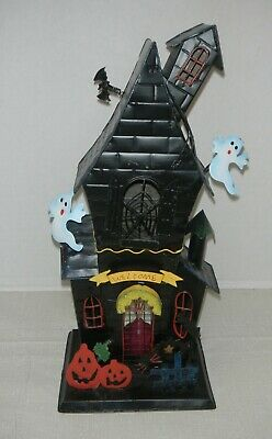 d5b7b22703 Halloween Votive Light Candle Holder Black Metal Haunted House 14
