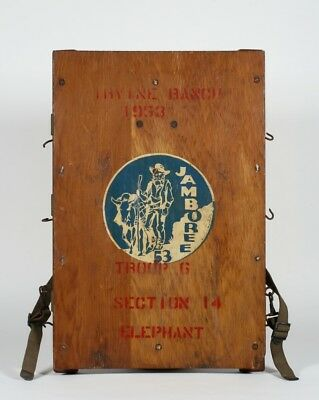 Rare Boy Scouts Knapsack Pack Frame - 1953 California Irvine Ranch