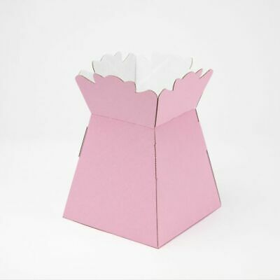 HAND TIED FLOWER BOUQUET PLANT BOX - LIGHT PINK Sweets Gifts Transport Container