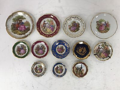 JOB LOT 12 x Limoges Miniature Collector Plates Various Designs #989