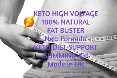 120 KETO HIGH VOLTAGE ADVANCED FAT WEIGHT LOSS Capsules Ketosis/Keto DietBHB cap