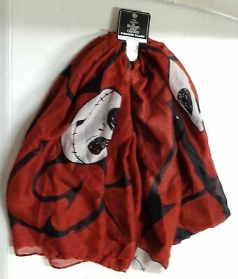43b1d681b Bioworld Disney The Nightmare Before Christmas Jack Viscose Scarf Red NWT