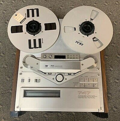 Vintage Akai Reel To Reel 4-Track Stereo Tape Deck Model Gx-747