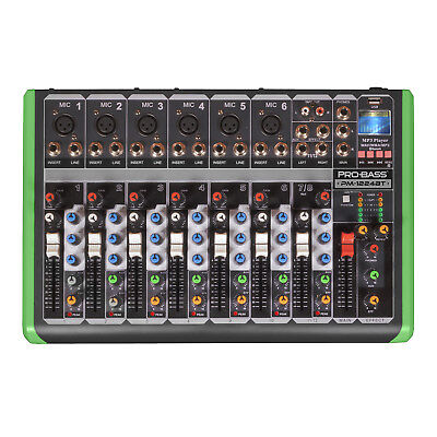 Pro Bass PM-1224BT Professional 12 Input Channels Mixing Console 6 Channels Mic