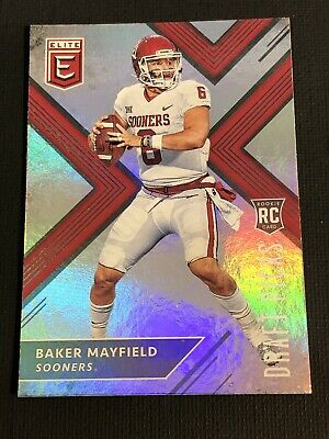 2018 Panini Elite Baker Mayfield Rookie Card No 139 Oklahoma