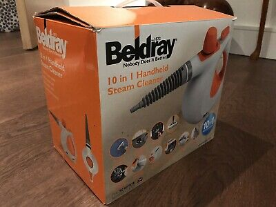 with Microfibre Cloths Beldray COMBO-3836 10-in-1 Handheld Steam Cleaner 1000W