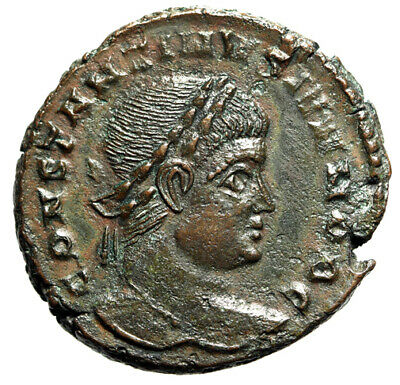 HIGH QUALITY Roman Coin of Constantine II Caesar With Great Portrait CERTIFIED