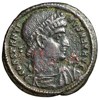 """SCARCE Constantine I The Great Roman Coin """"Soldiers"""" Heraclea RIC 117 GENUINE"""