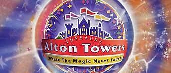 Alton Towers Actual Tickets - Thursday 12th September 2019