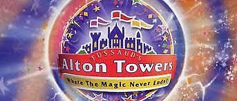 Alton Towers Actual Tickets - Saturday 7th September 2019