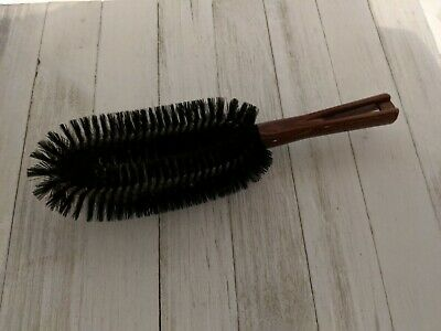 Vintage Stanley Clothes Brush - Lint Brush Brown Handle 10 1/2""
