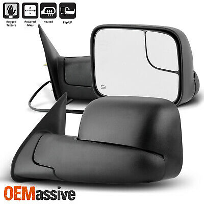 For 2005-2015 Toyota Tacoma Manual Extendable Power Heated Adjusted Mirrors Pair