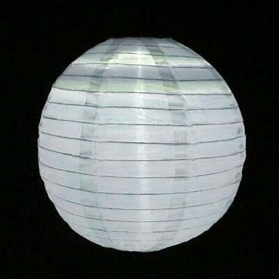 Waterproof LED Solar Cloth Chinese Lantern Festival Hanging Lamp (White) BEST