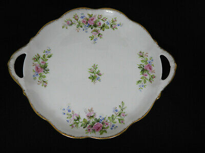Moss Rose Cake Plate Royal Albert Bone China 1940'S