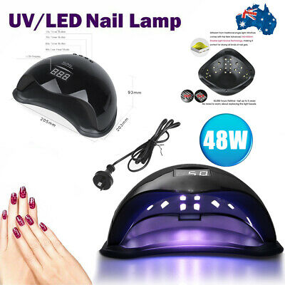 Sun5 Gel UV Nail Light 48W Gel Polish LED Dryer Lamp Nail Art Timer Kit AU PLUG