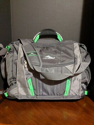 High Sierra XBT TSA Laptop Gray and Green Travel Bag NWOT