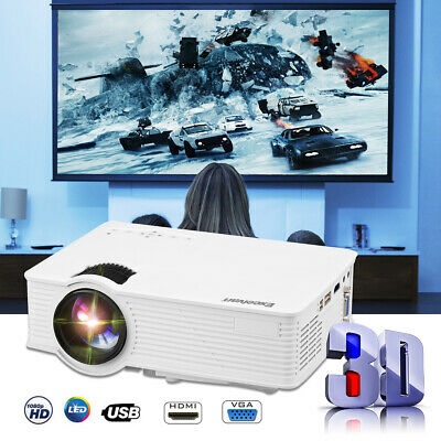 7000 lumens Projector LED Full HD Video Home Theatre HDMI USB VGA SD Outdoor AUS