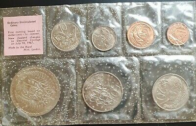 1967 New Zealand: Ordinary Uncirculated Set Pink Label Set.......