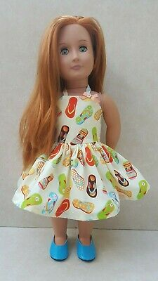 Summer Beach Dress fits Our Generation fits American Girl Handmade Doll Clothes