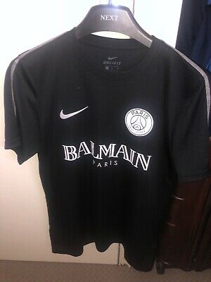 premium selection a6daa 8abfa NIKE PSG SHIRT Medium Black Paris Saint Germain Football Shirt Jersey  BALMAIN