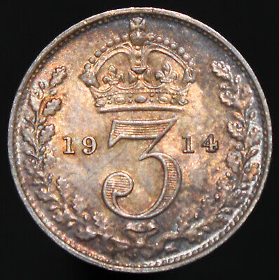 1914 | George V Threepence | Silver | Coins | KM Coins