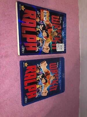 Wreck-It Ralph (Blu-ray/DVD, 2013, 2-Disc Set) With Slipcover