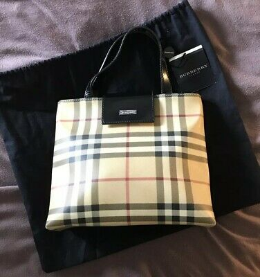 4e57500c8e Authentic Vintage Burberry Nova Check Grab Bag In Great Condition With  Dustbag