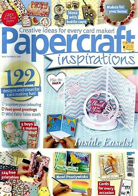 Papercraft Inspirations  Magazine Issue 188  March  2019.  Free Pop-Up Dies