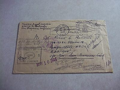 AITUTAKI COOK ISLANDS WWII USA APO 721 Stamp Less Cover RE Directed To Hospital