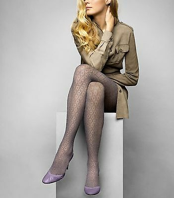 Le Bourget Heritage Collant Luxe Resille 20 Denier Tights Grid Pattern