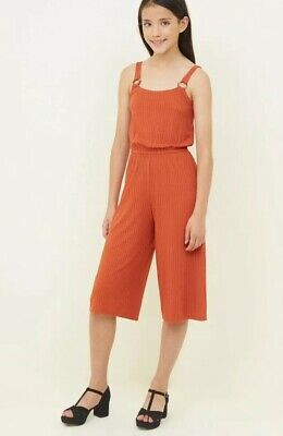 New Look - 915 Girls Rust Ring Strap Culotte Jumpsuit - Age 12-13 Years - BNWT