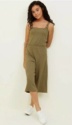 New Look - 915 Girls Khaki Ring Strap Culotte Jumpsuit - Age 14-15 Years - BNWT
