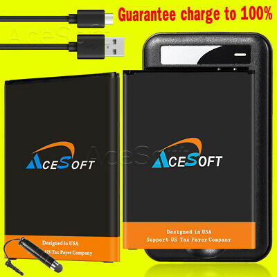 2x 4370mAh Extended Slim Battery Travel Charger Type-C Cable for LG V20 BL-44E1F