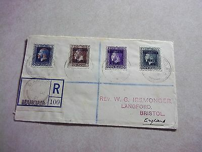 MANGAIA - COOK ISLANDS STAMPS On  REGISTERED COVER To ENGLAND  -- New Zealand