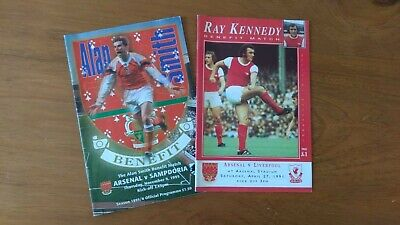 Arsenal benefit programmes Alan Smith 1995 and Ray Kennedy 1991