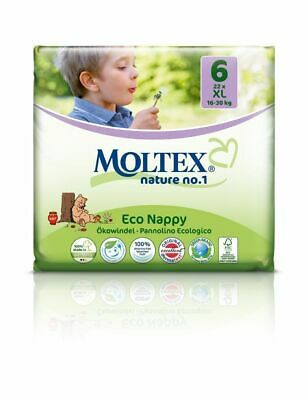 Moltex Eco Nappies Size 6 XL 16-30kg 22 Pack
