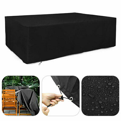 Large Rectangle Waterproof Outdoor Garden Patio Table Chair Set Furniture Cover