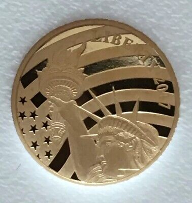 2017 Cook Islands $5.00 1/10 oz. .24 Fineness Gold Statue of Liberty Coin