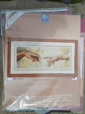 Vervaco The  Creation Of Man Counted Cross Stitch Kit 2002/75422 Two Hands 42X18