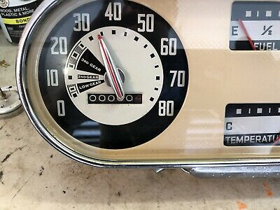 1947  1948  1949 50 1951 Ford Truck F1 150 F 250 Dash Cluster Gauges Speedometer