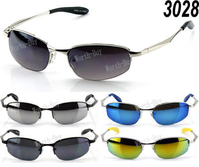 7244710ad New Mens Small Metal Frame Spring Temple Old School Retro Sunglasses Shades  Oval