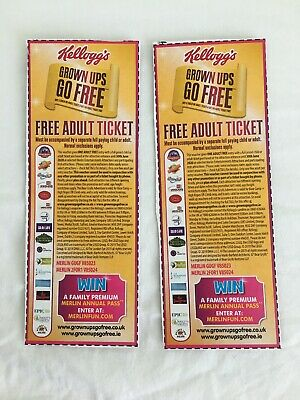 Kelloggs Free Adult Entry Vouchers x 2, Legoland Alton Towers Blackpool Tower