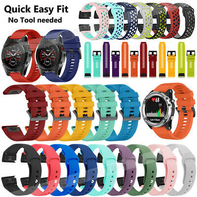 Various Quick Release Silicone Wrist Band Strap For Garmin Forerunner 945 22mm