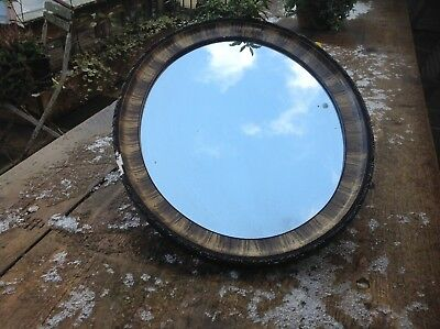 Vintage Oval Mirror Very Pretty Decorative Wooden Frame Gorgeous Delightful Wow
