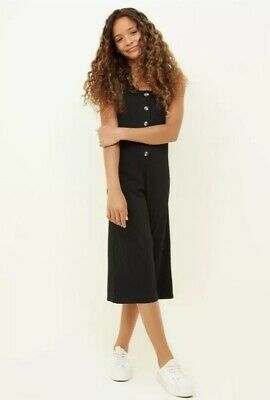 New Look - 915 Girls Black Button Front Jumpsuit - Age 9 Years - BNWT