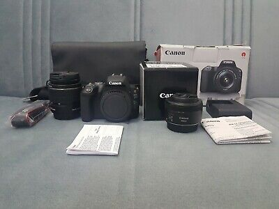 Canon EOS 200D 24.2 MP DSLR Camera - Black with canon 50mm & efs 18 55mm lenses