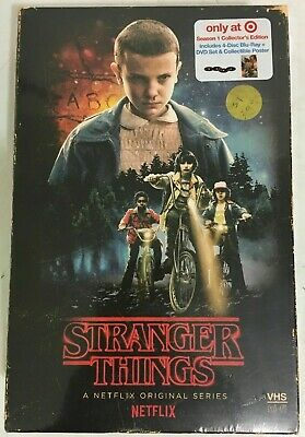 NEW Stranger Things Season 1  Blu-ray  DVD Target EXCLUSIVE VHS Edition Bluray